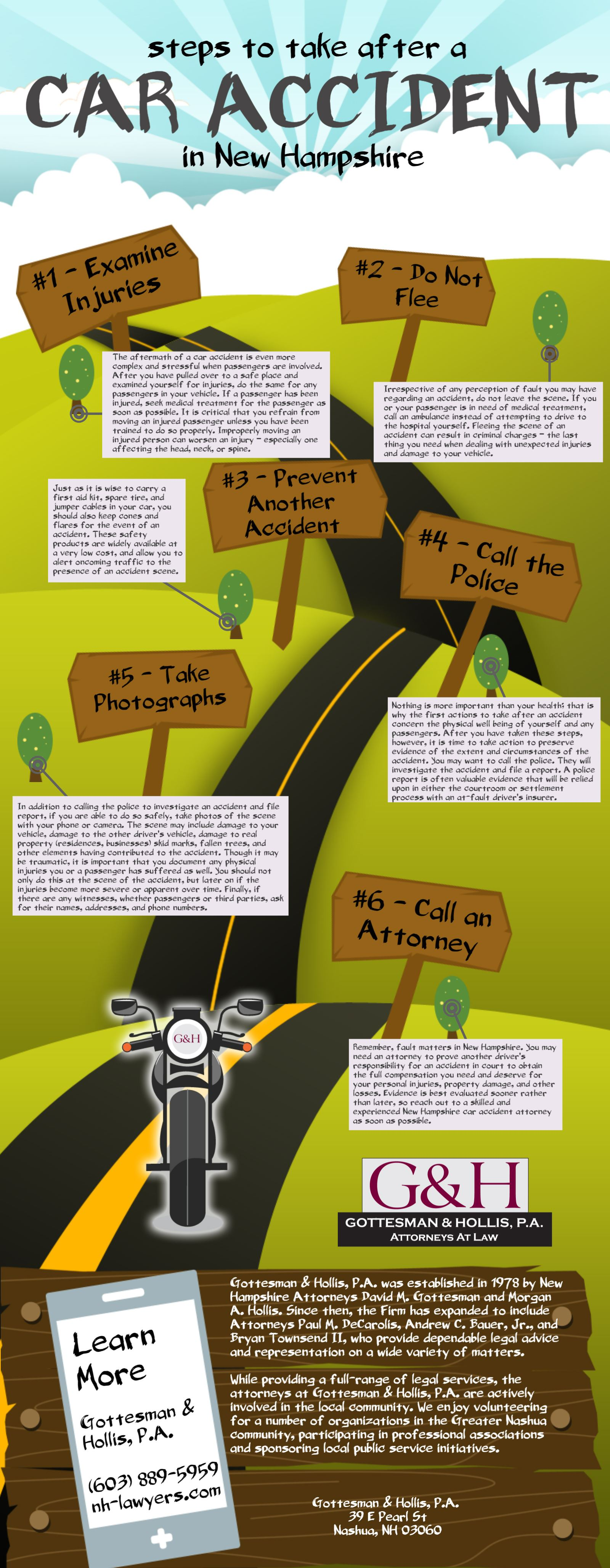 Steps to take after a car accident in new hampshire